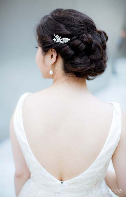 16+ Ideas For Bridal Hairstyles Updo Elegant Curls Low Buns