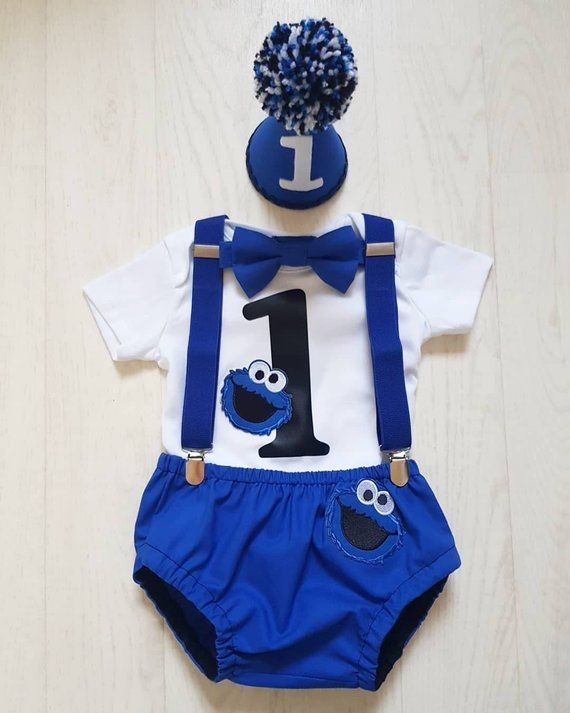 cac96fbe4a6c Perfect for those Cookie Monster fans Such a cute outfit for your little  prince to wear
