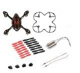 AFUNTA for Hubsan X4 H107C Quadcopter Red / Black Spare Parts Crash Pack (One Body Shell + One protective cover + 4 Rubber Feet + 4 x Spare Blades Set + 2 Motors + 2 Led light) - http://dronesheaven.ianjweboffers.com/afunta-for-hubsan-x4-h107c-quadcopter-red-black-spare-parts-crash-pack-one-body-shell-one-protective-cover-4-rubber-feet-4-x-spare-blades-set-2-motors-2-led-light/