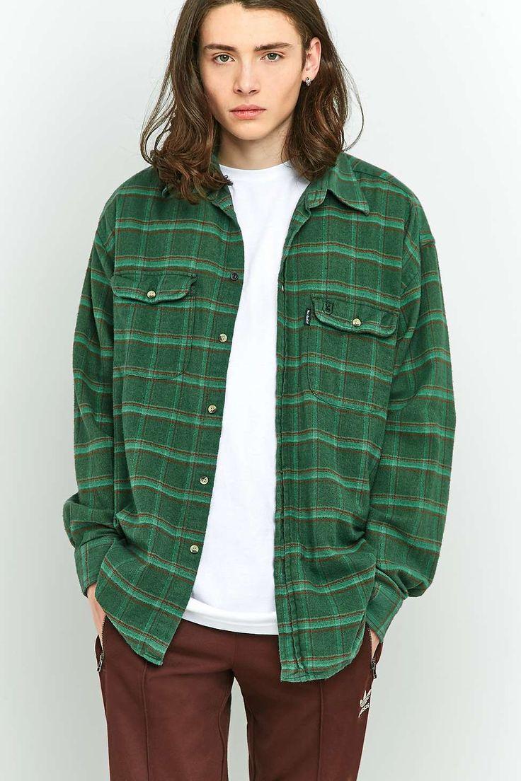 Top erkek giyim modelleri yeni tattoo tattoo s in lists for pinterest - Urban Renewal Vintage Customised Green Plaid Flannel Shirt