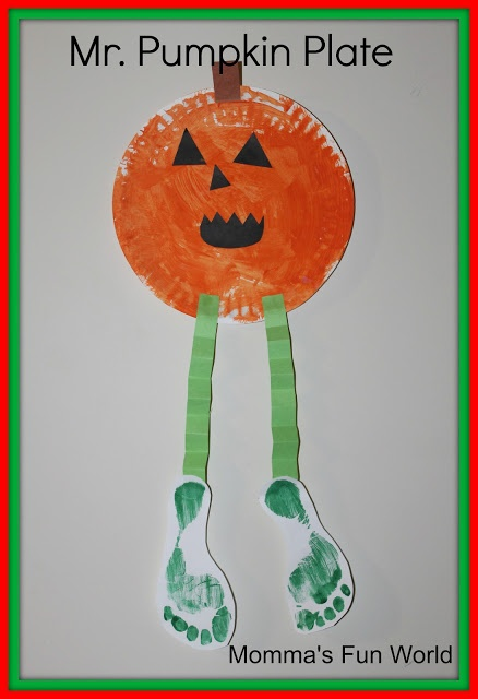 Mommas Fun World Pumpkin Person Preschool Fall CraftsCrafts