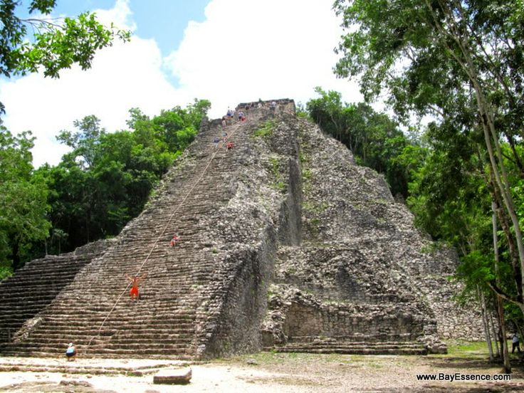 Nohuch Mul Pyramid, the tallest Mayan pyramid in the Coba reaching 42 mt /138 ft high | Yucatan Peninsula: Exploring Ancient Mayan Sites | www.bayessence.com