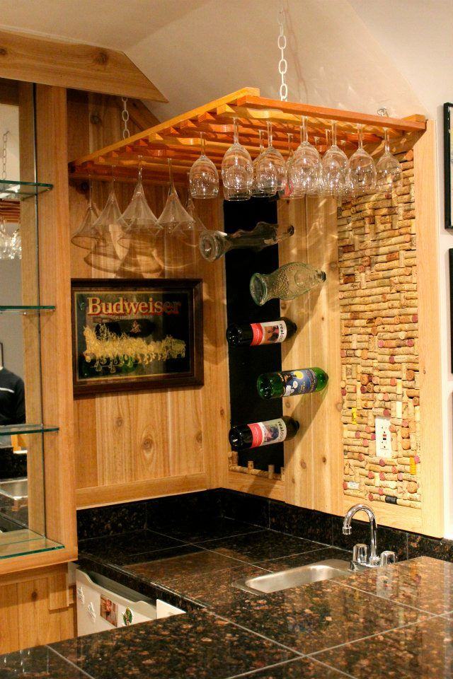 basement bars in the basement basement ideas wine hutch cork wall pin
