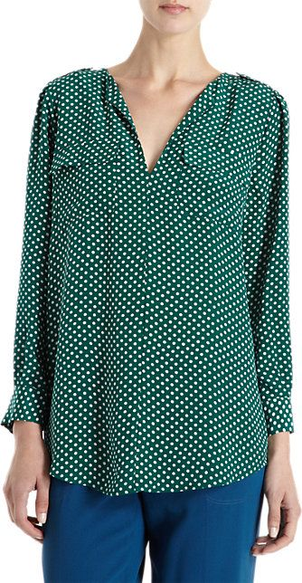 Joie Dotted Blouse - Blouses - Barneys.com