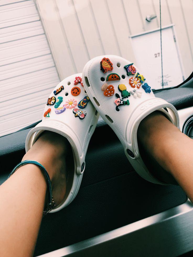 White Crocs W Jibbitz Crocs Crocs Shoes White Womens