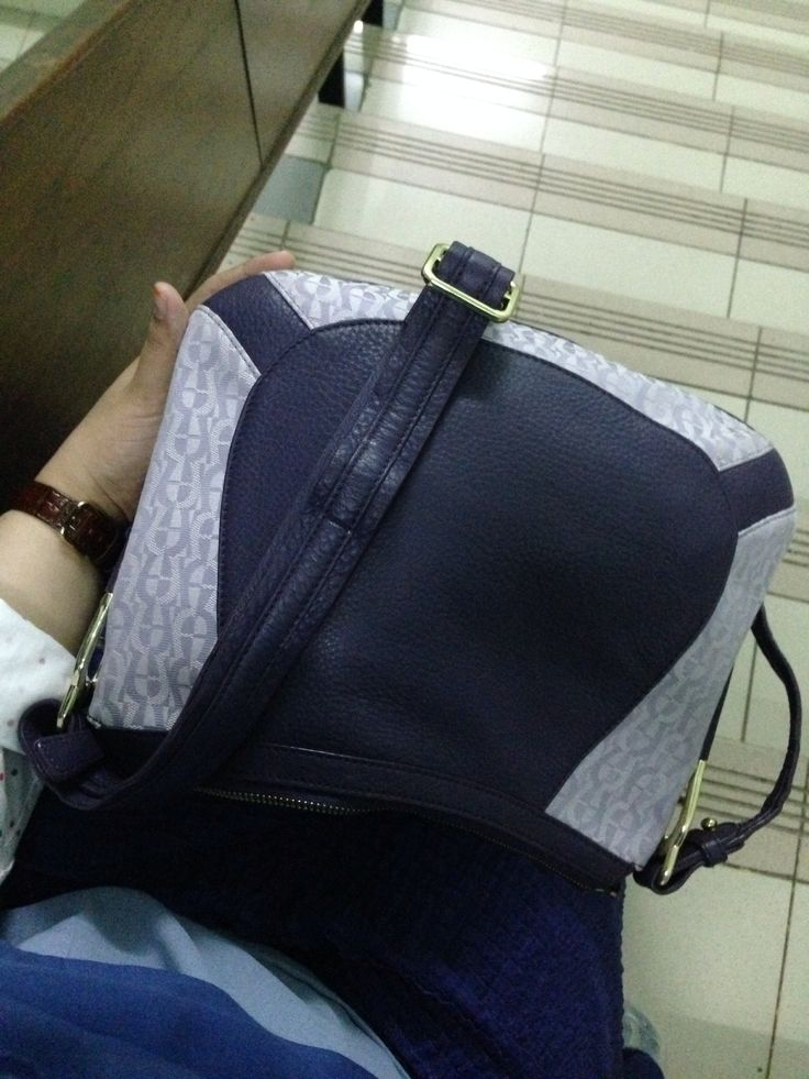 Purple Aigner sling bag
