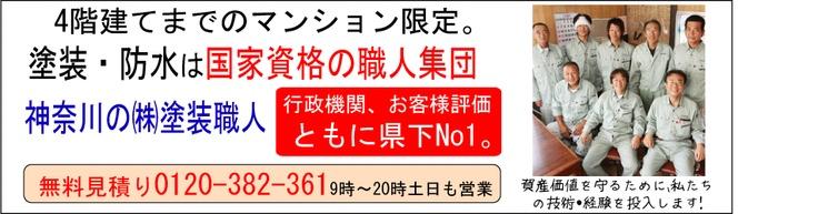 4階建てまでのマンションやビル限定。塗装や防水などの改修、修繕工事は国家資格の職人集団、神奈川の塗装職人が資産の価値を維持させていただきます。