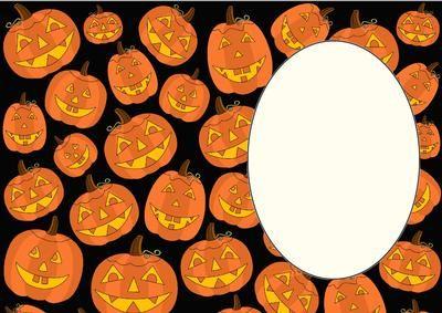 Halloween pumpkin insert 2 on Craftsuprint designed by Sharon Poore - Halloween pumpkin insert - Now available for download!