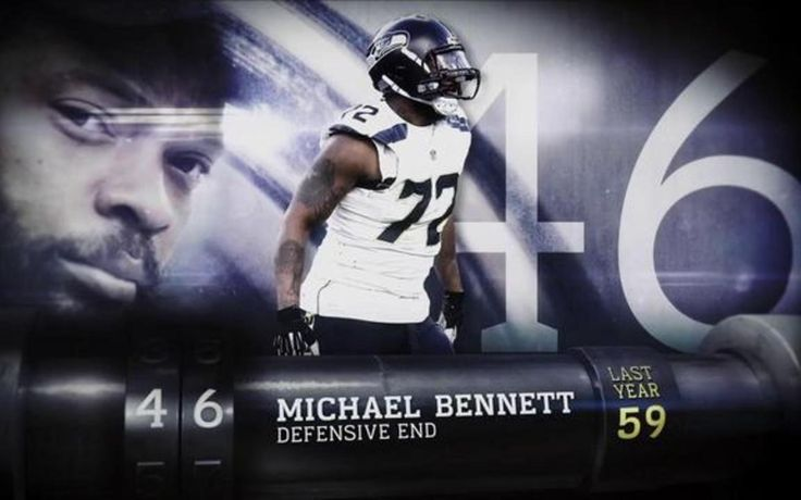 """Seattle Seahawks defensive lineman Michael Bennett is voted the 46th-best player in the NFL by his peers on """"Top 100 Players of 2017."""""""