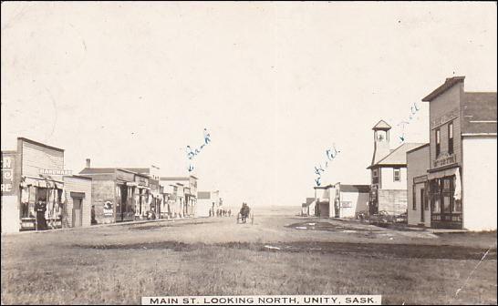 RP: Main Street (dirt) , UNITY , Saskatchewan , Canada , PU-1914 Item# SCVIEW448030 (283706335)