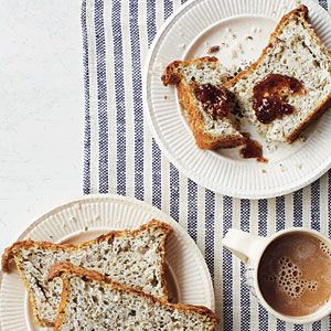 This recipe offers a number of healthful benefits by incorporating sunflower, chia, caraway, sesame, and poppy seeds in one excellent gluten-free loaf. The chia seeds also absorb liquid, which helps maintain more moisture in the bread.