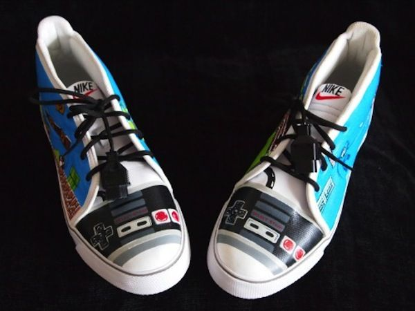 These Custom Painted NES Sneakers Have a Little Bit Of Everything.