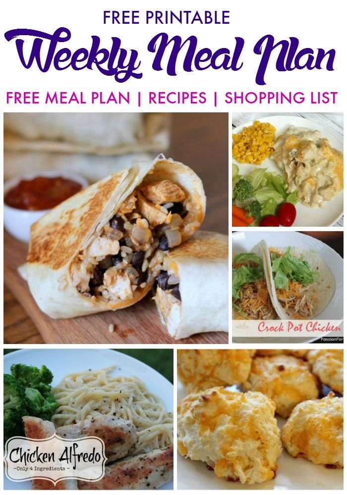 Get 20 Weekly Meal Plans Ideas On Pinterest Without Signing Up Diet Meal P
