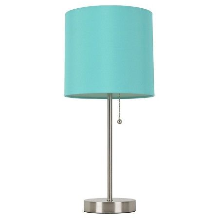 Room Essentials™ Aqua Stick Lamp Caribbean Aqua (Includes CFL Bulb) : Target