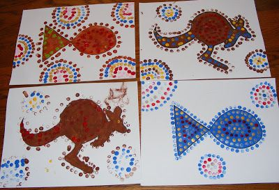 Love these Australia Day pictures - Aboriginal art can be great fun for kids of all ages!