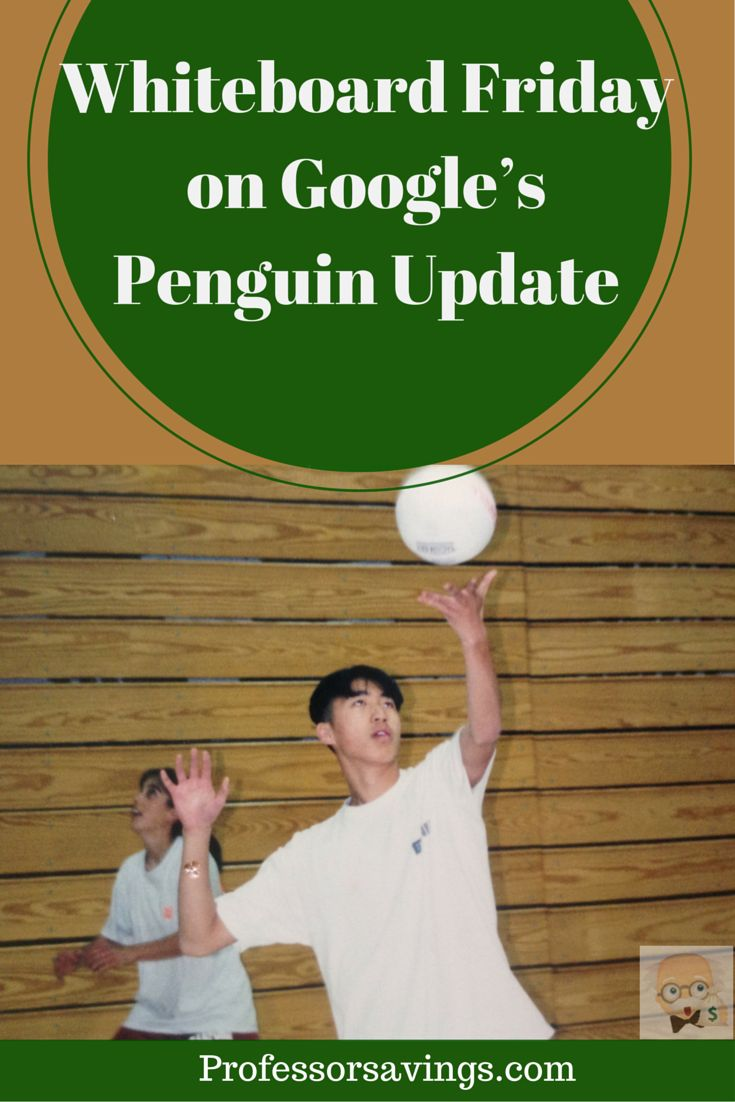 Whiteboard Friday on Google's Penguin Update #google #update CLICK HERE>> http://professorsavings.com/whiteboard-friday-on-googles-penguin-update/?utm_content=bufferde634&utm_medium=social&utm_source=pinterest.com&utm_campaign=buffer