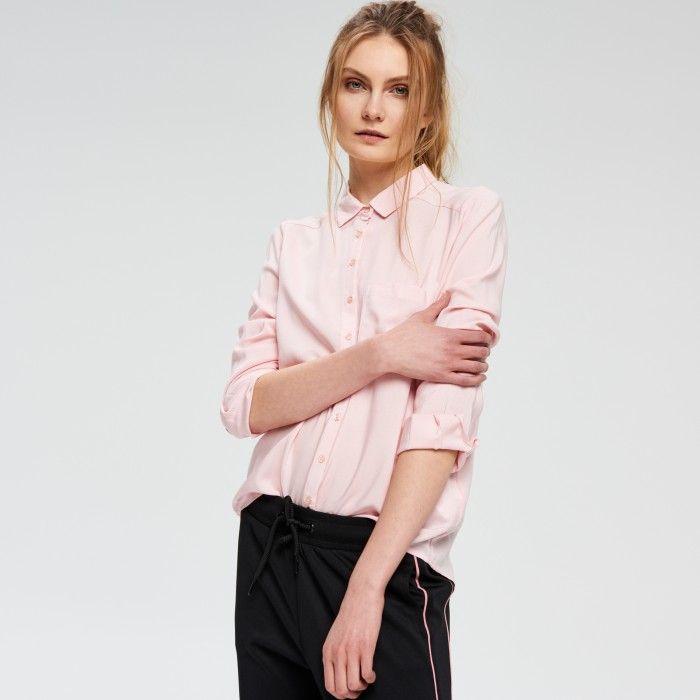 Koszula z wiskozy - KOSZULE - KOLEKCJA - DZIEWCZYNA