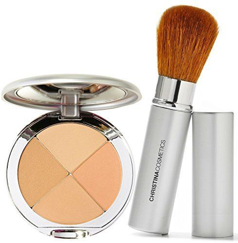 Christina Cosmetics Perfect Pigment 2 Compact and Retractable Brush Duo! *** Want to know more, click on the image.