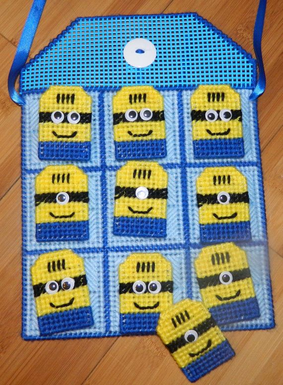Minions Inspired Gift Set Tic Tac Toe Game /Key Chain / Pin / Gift Card Holder…