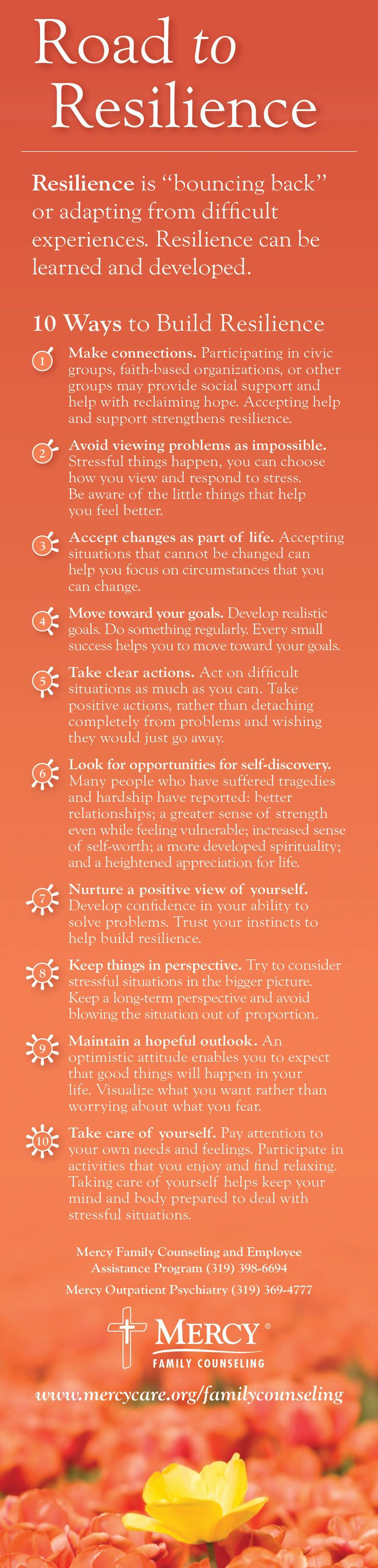 10 #tips to improve your resilience #PersoanlDevelopment #success www.socialmediamamma.com
