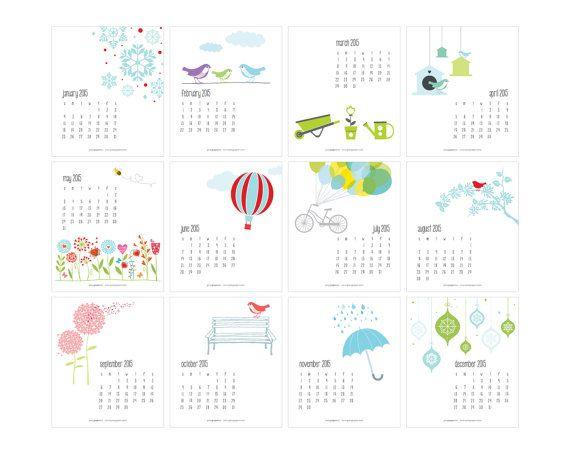 Cute Calendar Illustration : Best images about calendar on pinterest free