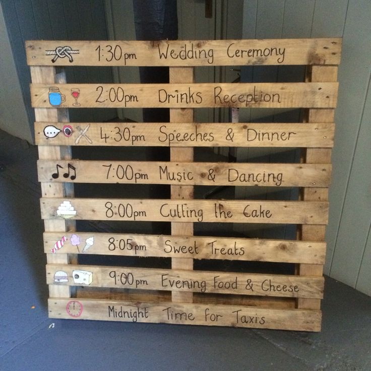 Up Cycled Pallet Order Of Service Design Yourhouse