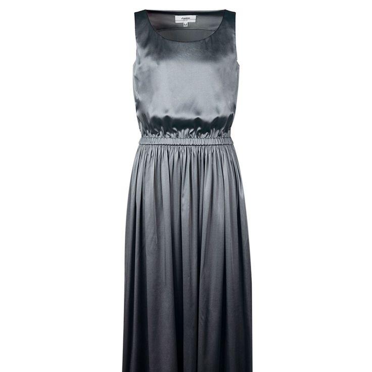 Silk Metalic Grey Dress on TROVEA.COM