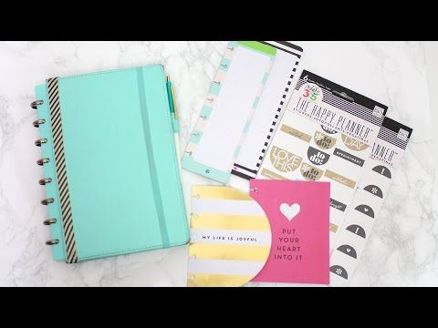 ▶ INSIDE MY NEW PLANNER! Martha Stewart Discbound + MAMBI Happy Planner Accessories! - YouTube