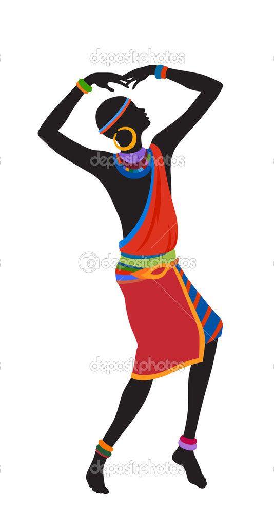 Hombre exótico de la danza libre — Ilustración de stock #62890161