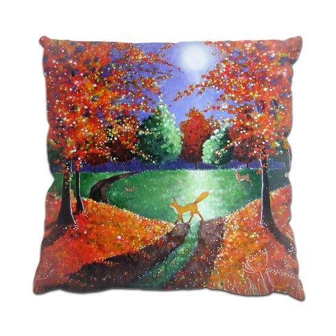 Autumn Fox Cushion by angielivingstone at zippi.co.uk