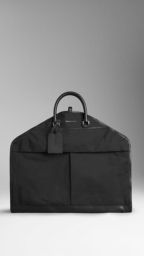 Leather Detail Garment Carrier | Burberry