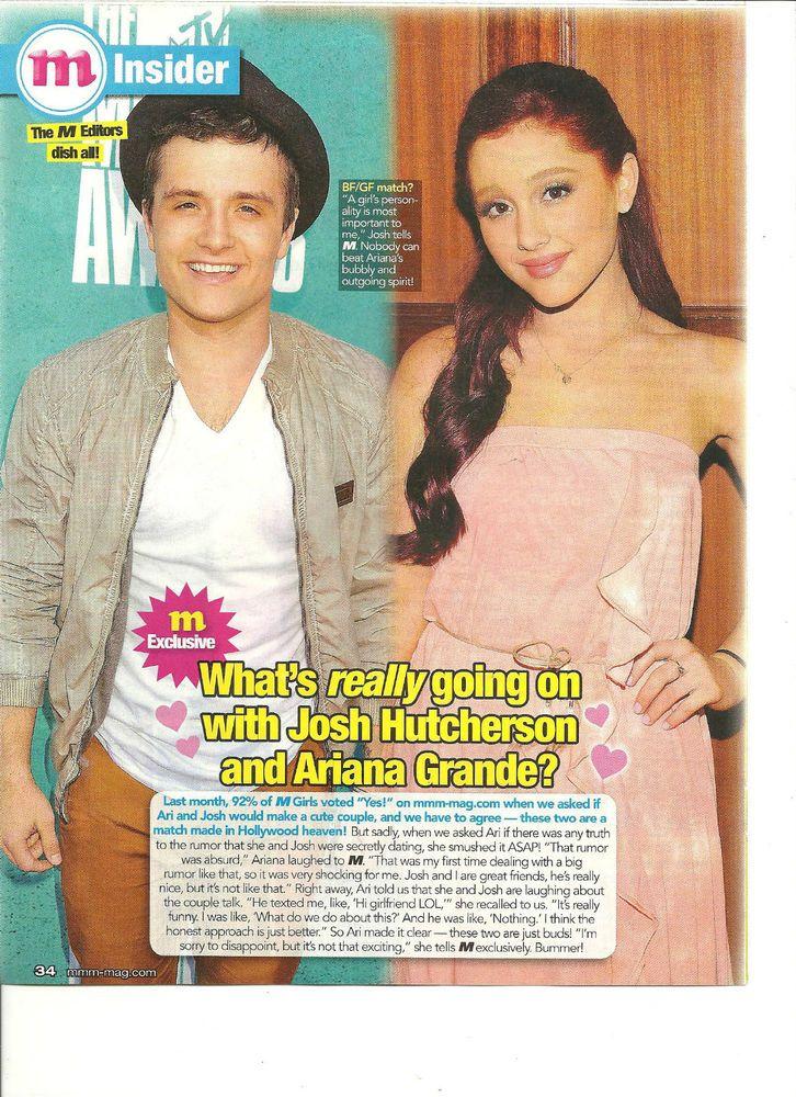 Josh Hutcherson, Ariana Grande, Full Page Pinup Clipping ...