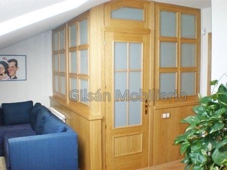 Cerrar la buhardilla con madera de roble cerramientos de for Cerramientos de interiores