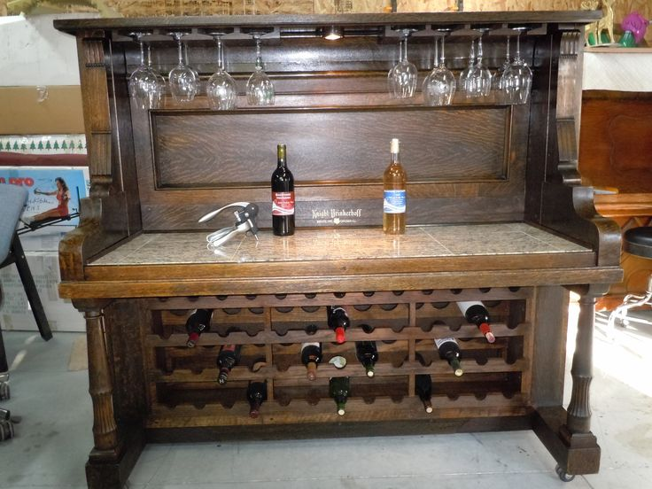 17 images about piano wine bars on pinterest patriots for Repurposed antiques ideas