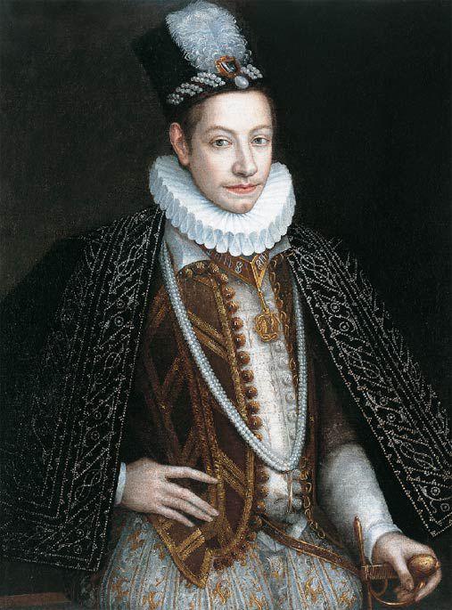 1580 Jan Kraeck (Giovanni Caracca) - Portrait of Charles Emmanuel I, Duke of Savoy