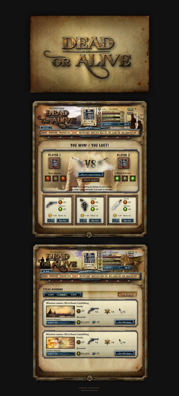Dead or Alive Facebook Game by ~karsten on deviantART
