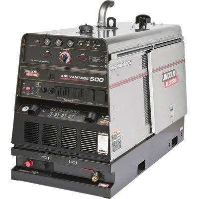 Lincoln Electric Air Vantage 500 Multiprocess DC Welder/AC Generator/Air Compressor featuring Chopper Technology - 550 Amp DC Welding Output, 12,000/20,000 Watt AC Power Output, 60CFM/100PSI Air Output, Model# K2325-2
