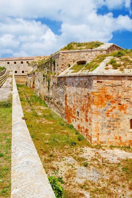 La Mola Fortress of Isabel II at Menorca island, Spain. It was built between 1850