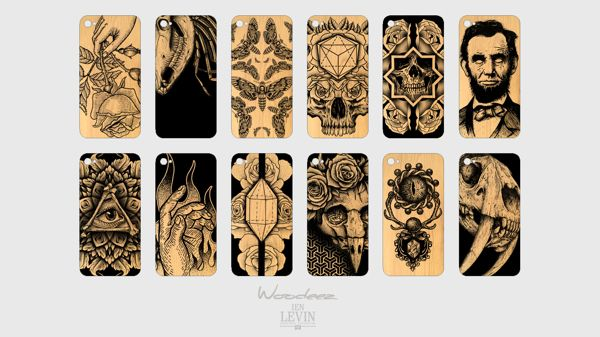 Collaboration with Woodeez. iPhone cases and packaging by Ian Levin on Behance
