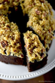 German Chocolate Pound Cake Recipe | http://shewearsmanyhats.com/german-chocolate-pound-cake-recipe/