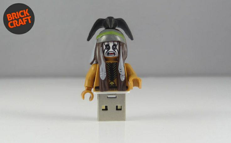Tonto Pendrive 8GB USB w BRICK CRAFT #lego #pendrive #flash #minifigures #tonot #lonerider