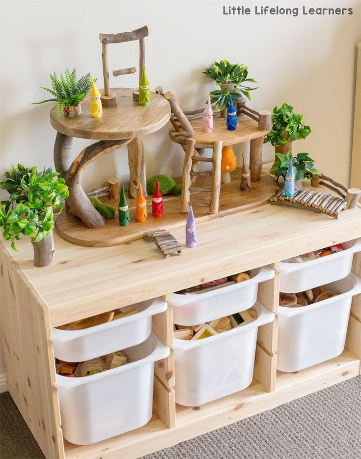 DIY Treehouse for Little World Games #tree #small #world games, #WoodWorking
