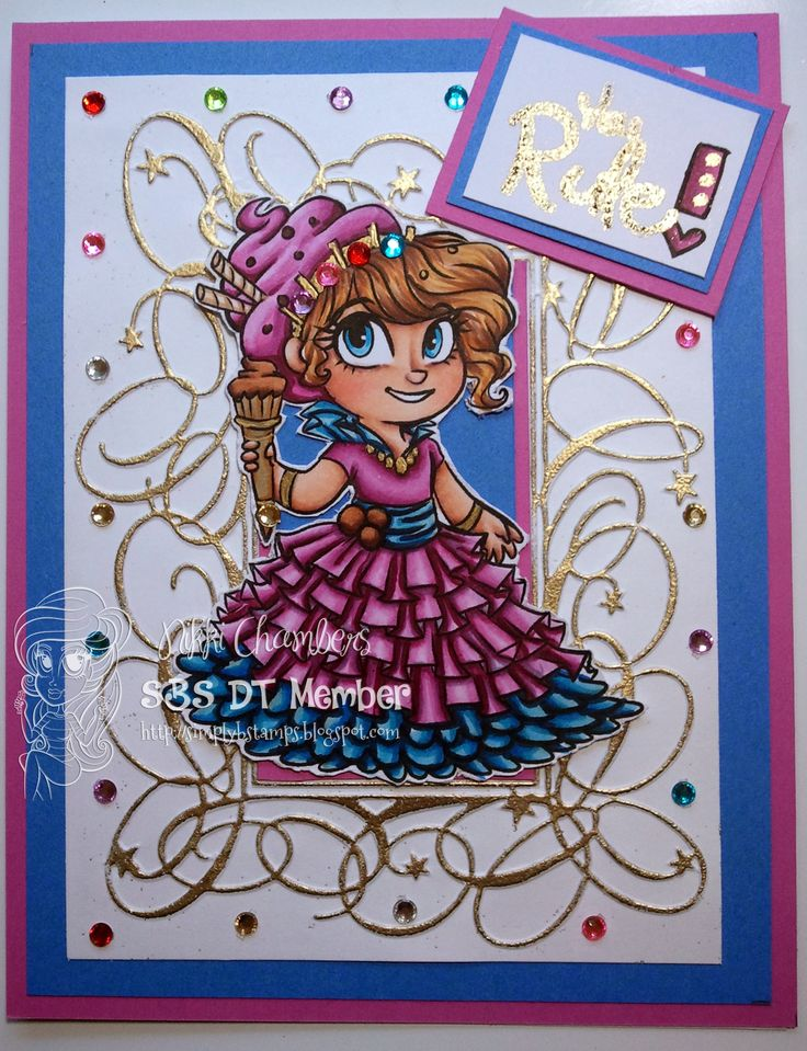 """Ice Cream Queen Betty from Simply B Stamps """"Sugar Teen"""" line of digital stamps."""