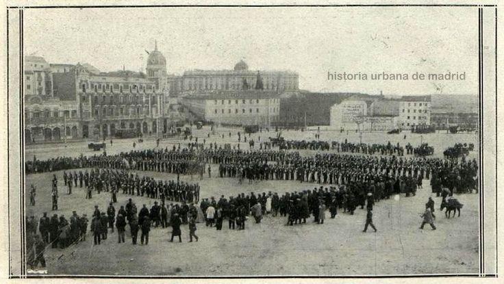 Historia Urbana de Madrid: La Plaza de España en 1914