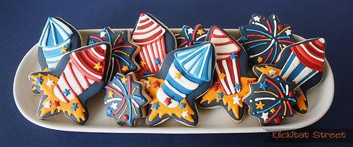 firework rocket cookies