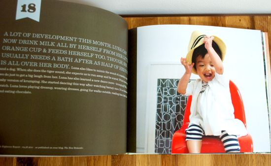Great idea, year books for baby with pictures, graphics, and info from the past year, fun!