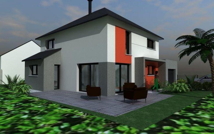 maison contemporaine toit 4 pans   Architecture   Pinterest ...