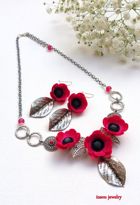 638 best beads polymer clay jewellery images on Pinterest Flower