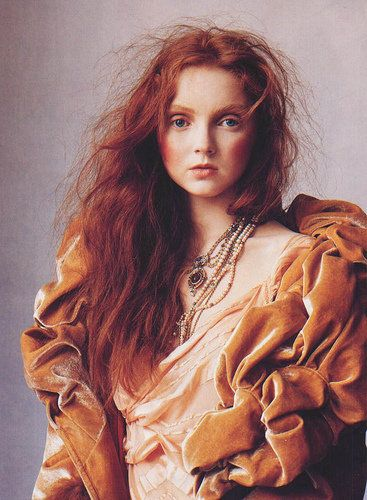 This has forever been my favorite photo of Lily Cole, Vogue- Girl with the Pearl Earring