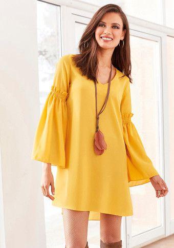 Tunikové šaty se zvonovými rukávy #ModinoCZ